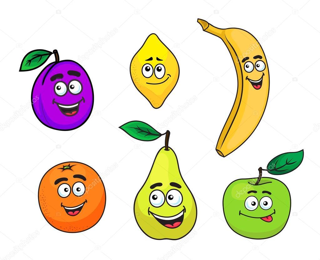happy smiling cartoon fruits set u2014 stock vector seamartini 52422457