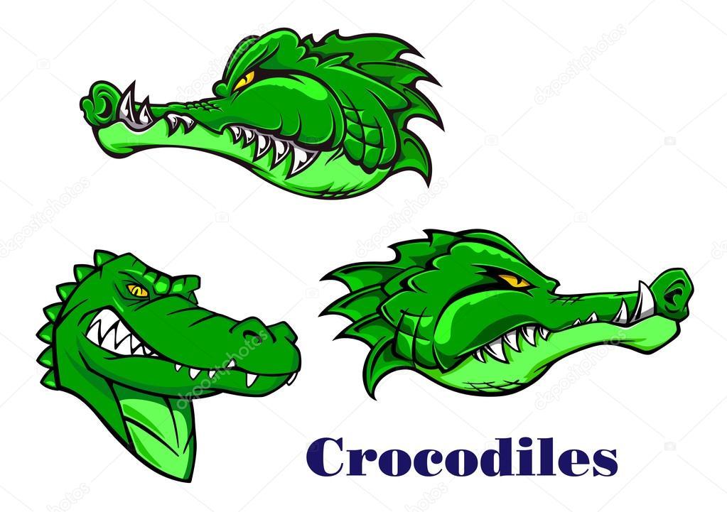 Personnages de dessins anim s crocodiles et alligators image vectorielle seamartini 53333621 - Dessin anime de crocodile ...