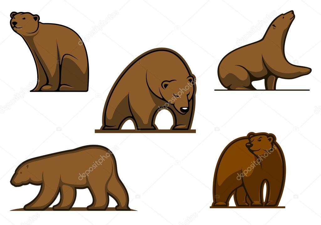 braun farbige Bär Zeichen — Stockvektor © Seamartini #54260225