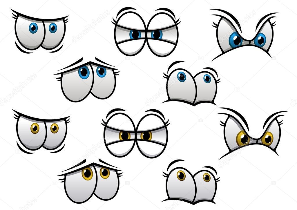 Animado Un Ojo Para Colorear Ojos De Dibujos Animados Con
