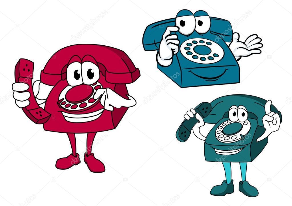 Telefonos Antiguos Caricaturas Personajes De Dibujos Animados