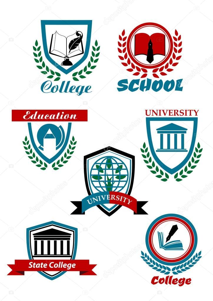 Heraldic Symbols For University And College Education Design