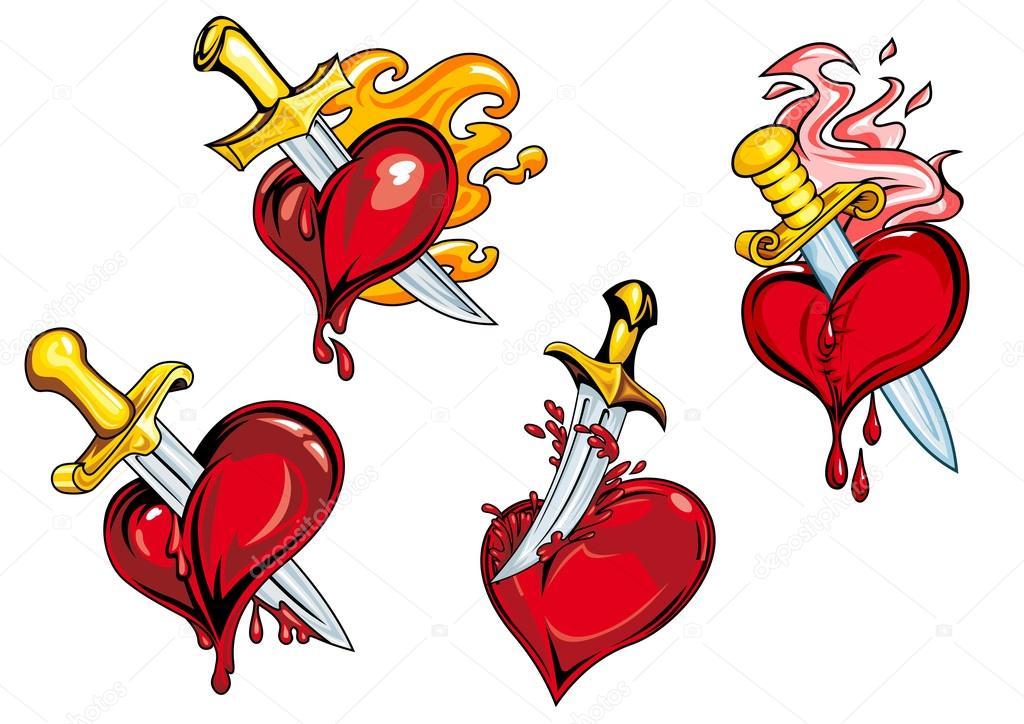 Imágenes Corazones Sangrando Para Dibujar Sangrado Corazón