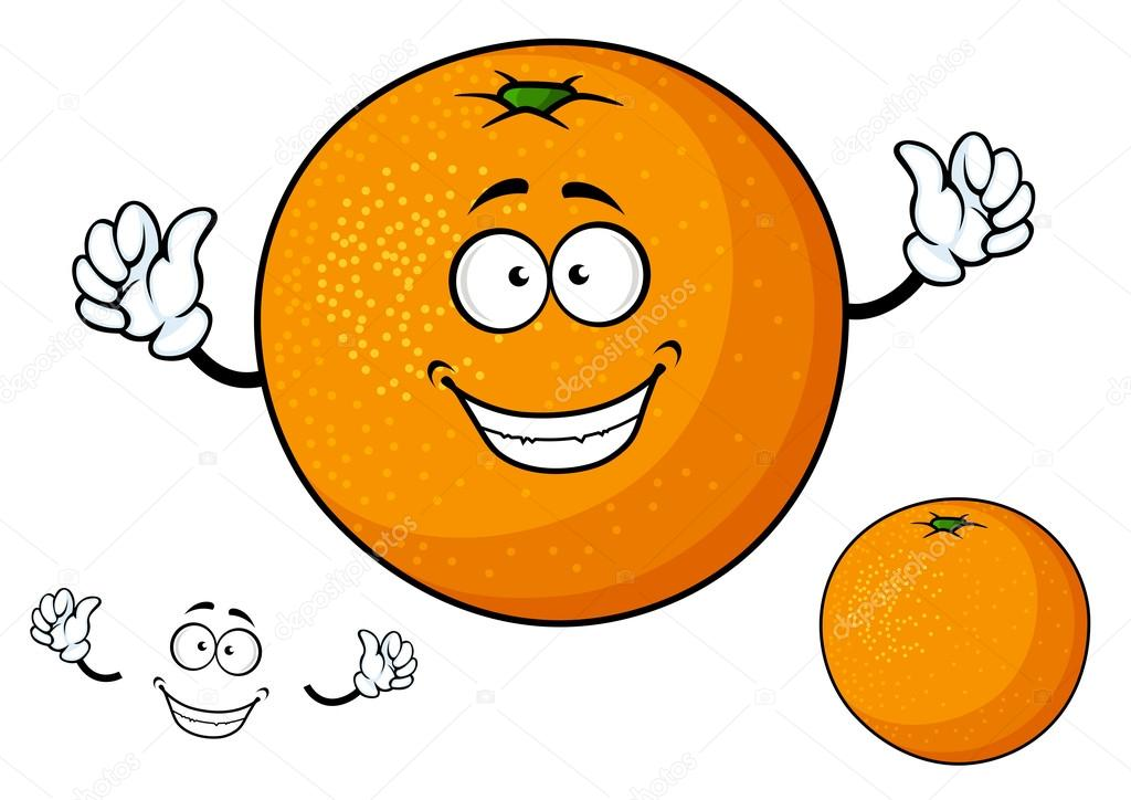 Dessin anim dr le fruits orange juteuse image - Orange dessin ...