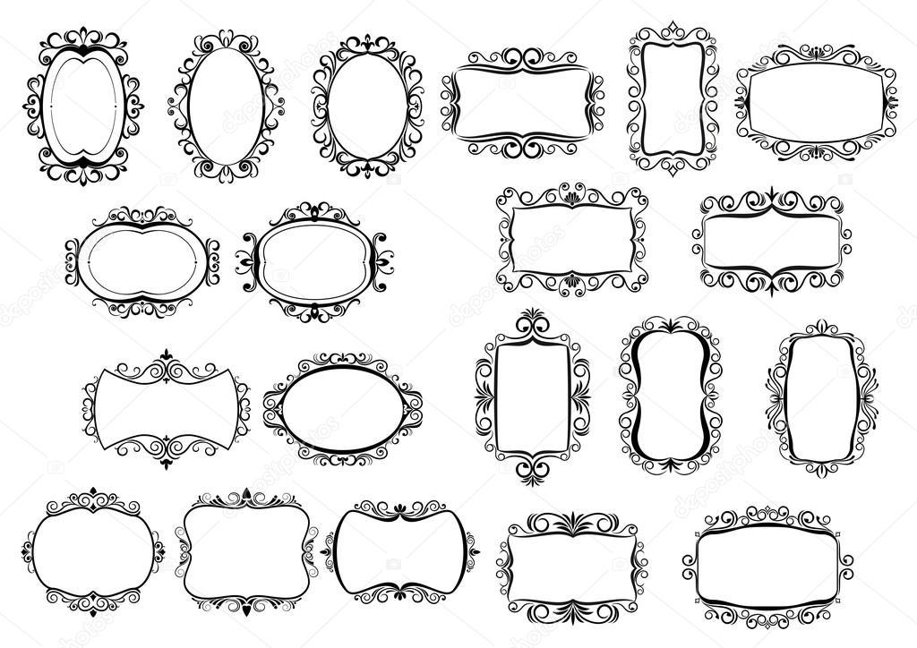 Bordes y marcos vintage caligráficos clásicos — Vector de stock ...