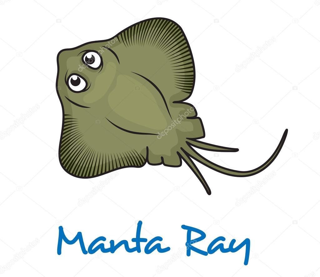 Raie manta de dessin anim image vectorielle seamartini 64439891 - Dessin raie manta ...