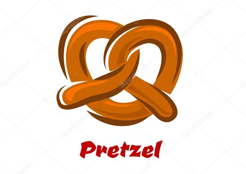 Beierse Gedraaide Pretzel In Cartoon Stijl Stockvector