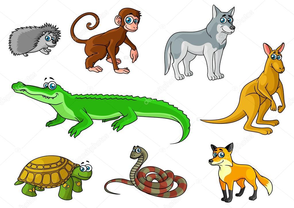 Descargar Dibujos Animados De Animales Silvestres Bosque Y Selva