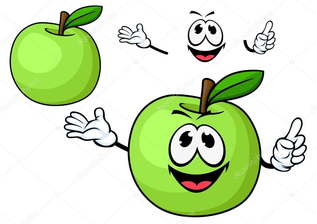 Personnage de dessin anim pomme verte juicy fruit image - Dessin pomme apple ...