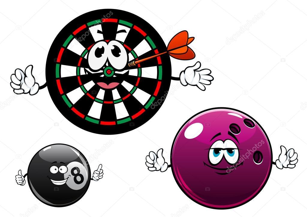 Bowling billard et jeu de fl chettes de personnages de dessin anim image vectorielle - Bowling dessin ...