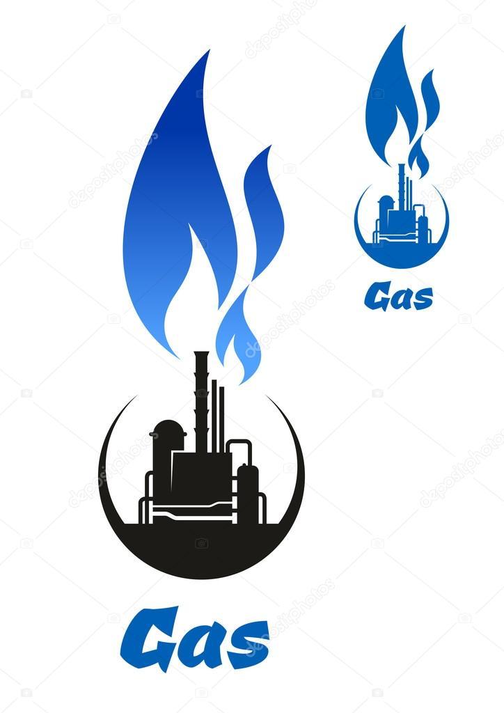 blue flame gas symbol