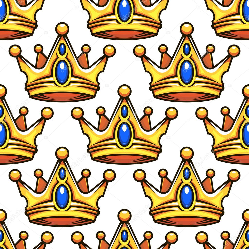 Cartoon Golden Crowns Seamless Pattern Stock Vector C Seamartini 77240420 The best selection of royalty free cartoon crown medieval vector art, graphics and stock illustrations. https depositphotos com 77240420 stock illustration cartoon golden crowns seamless pattern html
