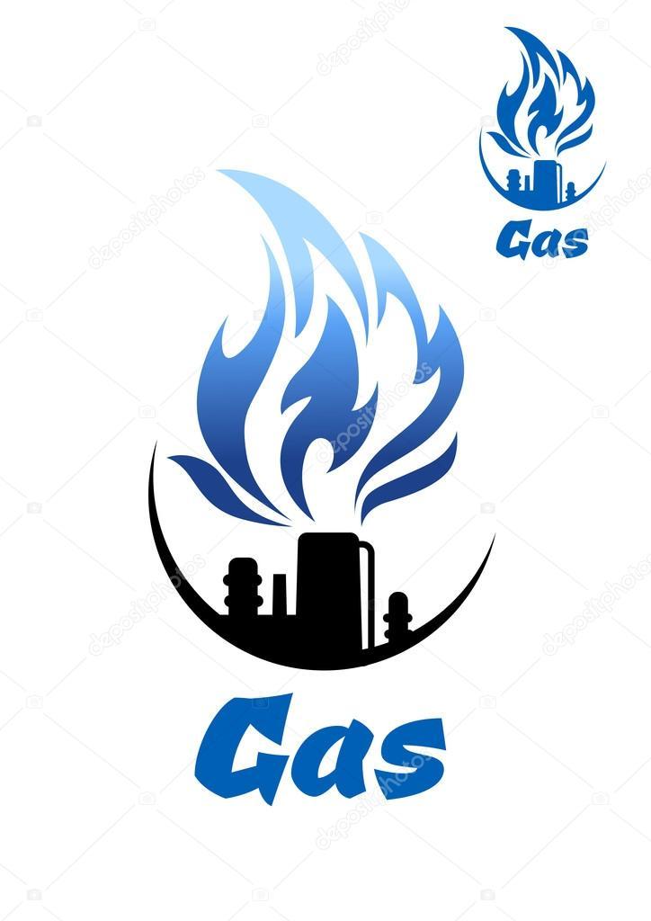 Natural Gas Refinery Factory Icon Stockvector Seamartini 77852698