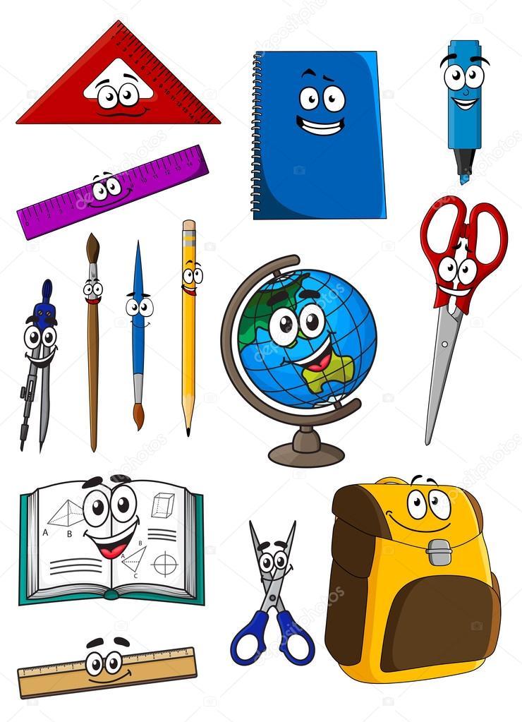 Рисунок школьные принадлежности в будущем картинки