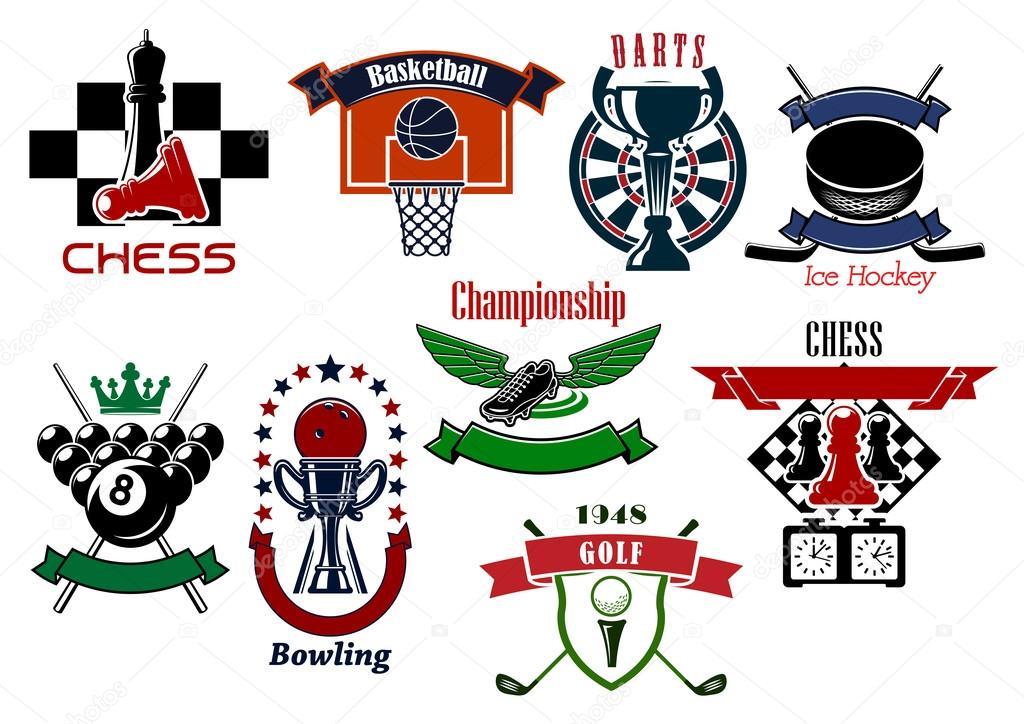 Sport Games Emblems And Symbols For T Shirt Design Stockvector