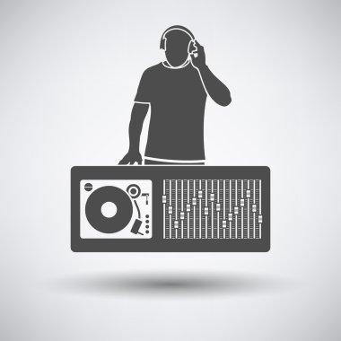 DJ icon on gray