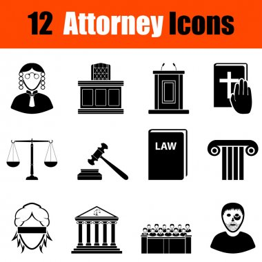 Set of attorney  icons