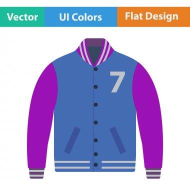 Baseball jacket icon. Flat design. Vector illustration. stock vector