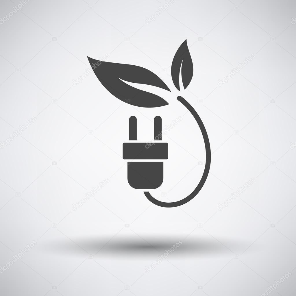 Elektrische Stecker mit Blätter-Symbol — Stockvektor © angelp #111795278