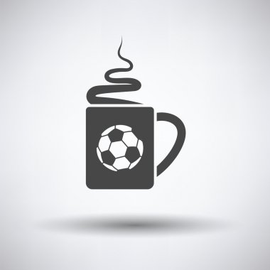 Football fans coffee cup