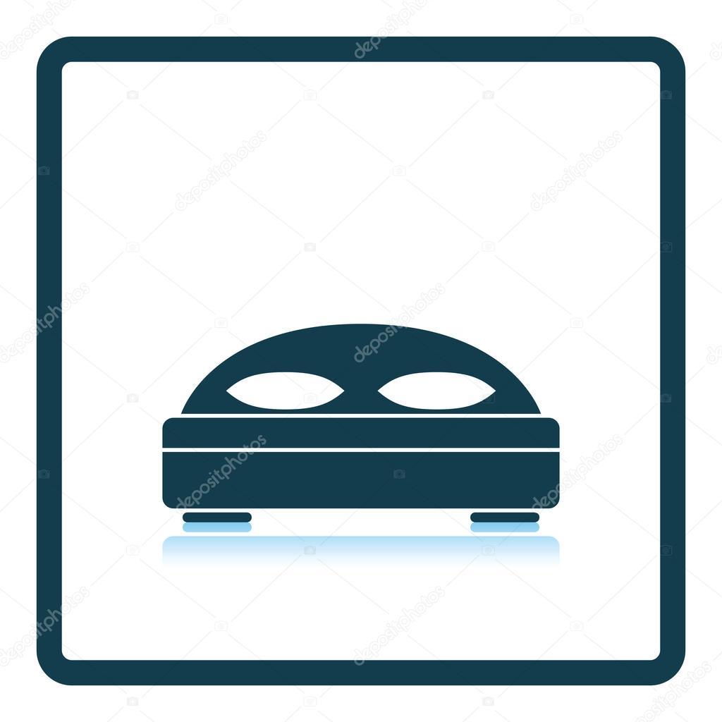 Hotel bed icon — Stock Vector #115082838
