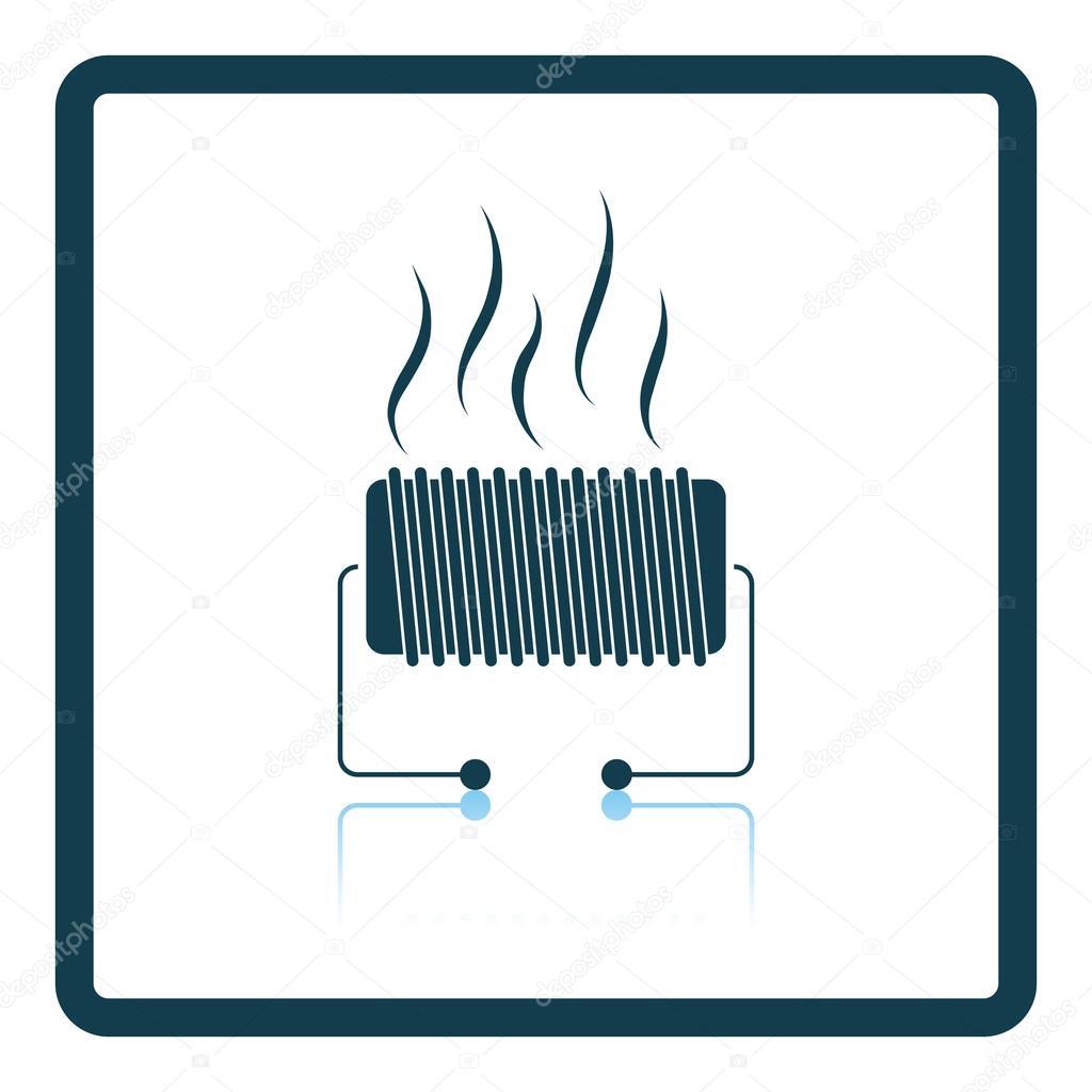 Elektrische Heizung-Symbol — Stockvektor © angelp #115603438