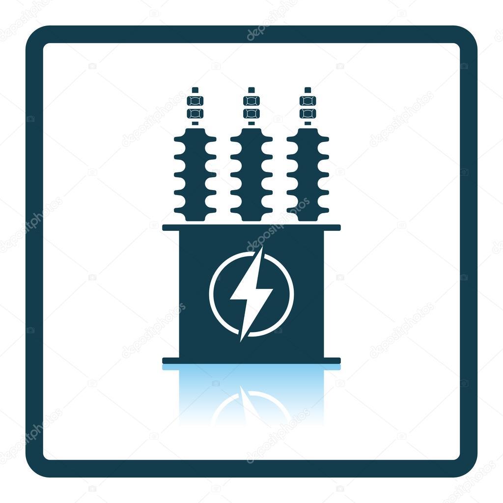 Electric transformer icon — Stock Vector © angelp #115603758