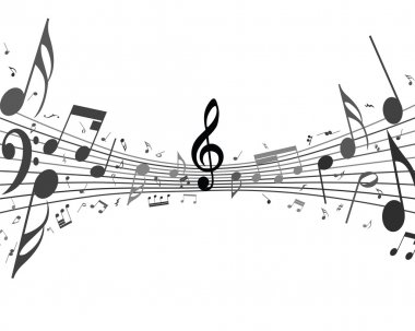 musical design from music staff elements