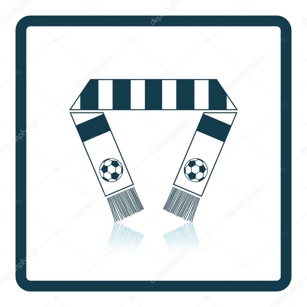 Fussball Fans Schal Symbol Stockvektor C Angelp 116376036