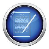 List s ikonou text a tužka
