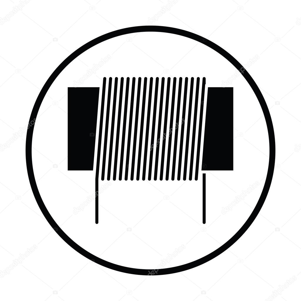 Inductor coil icon — Stock Vector © angelp #118904412