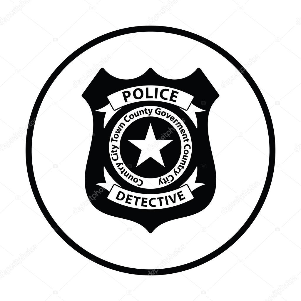police badge icon stock vector angelp 119454576 rh depositphotos com police badge vector art free vector image police badge