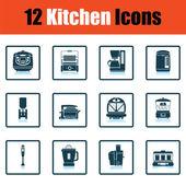 sada ikon kuchyně