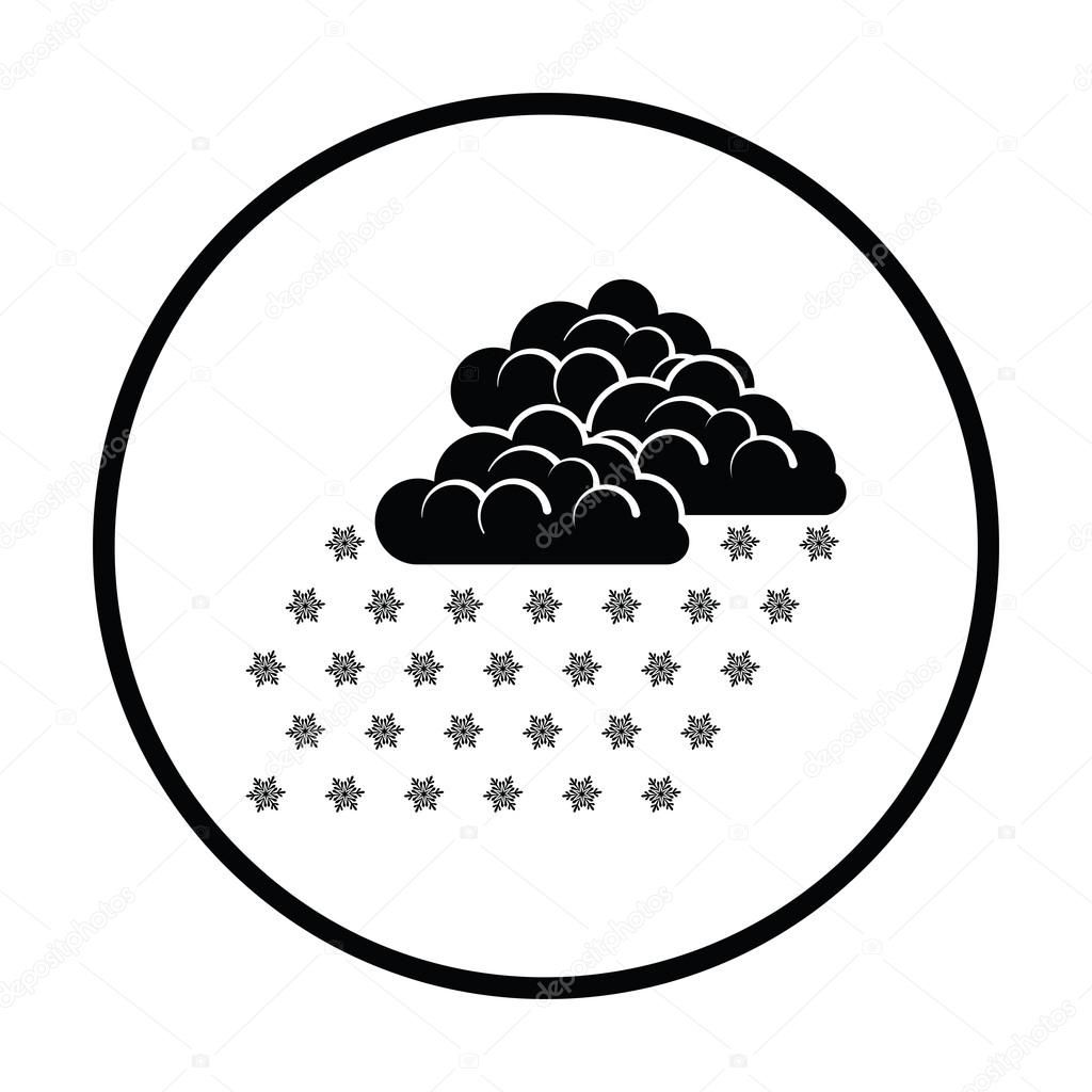 Snowfall flat style icon