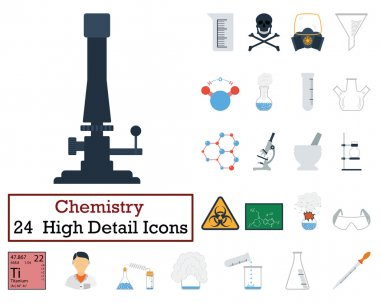 Set of 24 Chemistry Icons
