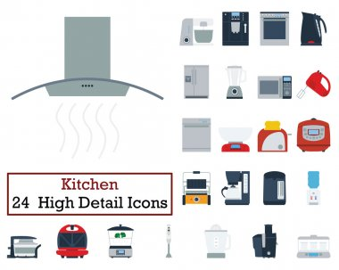 Set of 24 Kitchen Icons