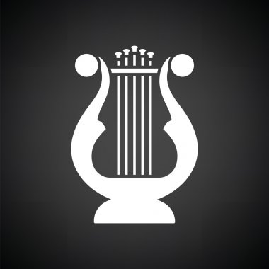 white lyre icon