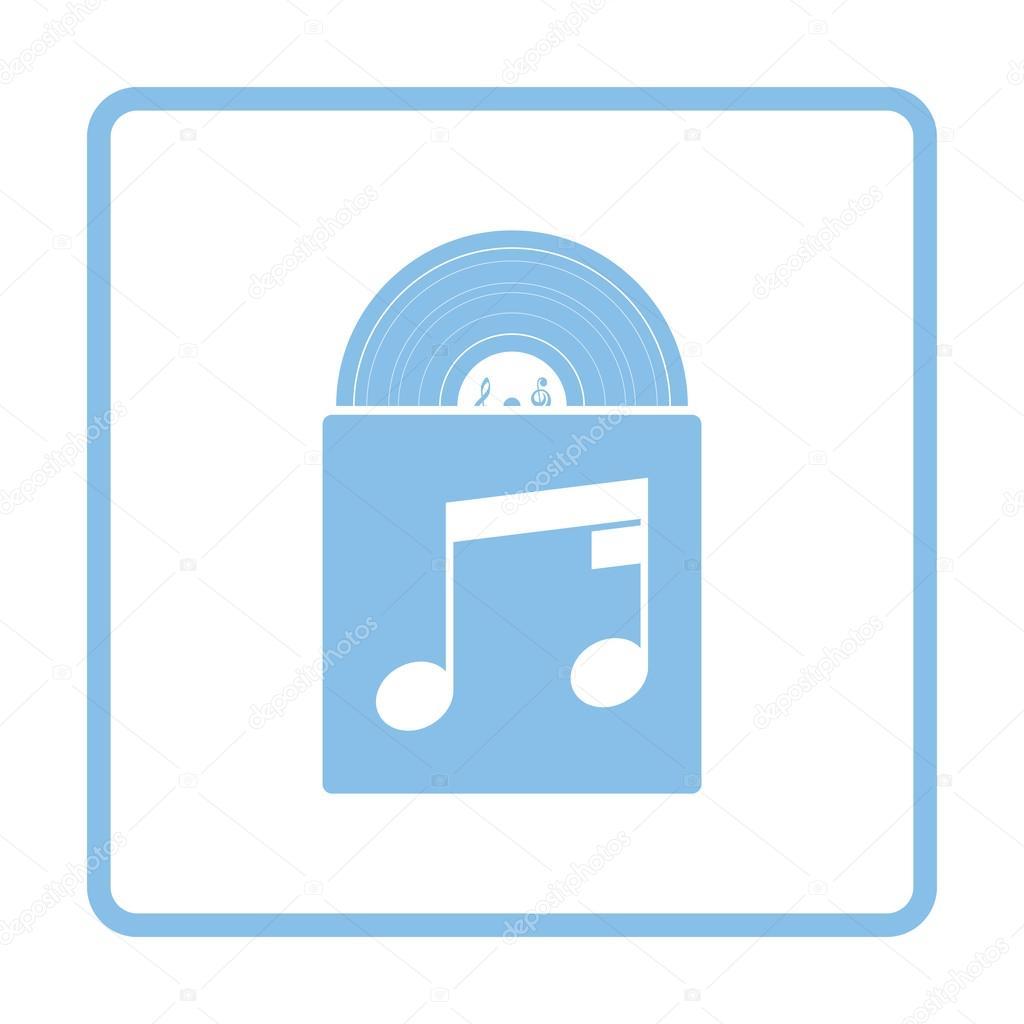 Disco de vinilo en el icono sobre — Archivo Imágenes Vectoriales ...