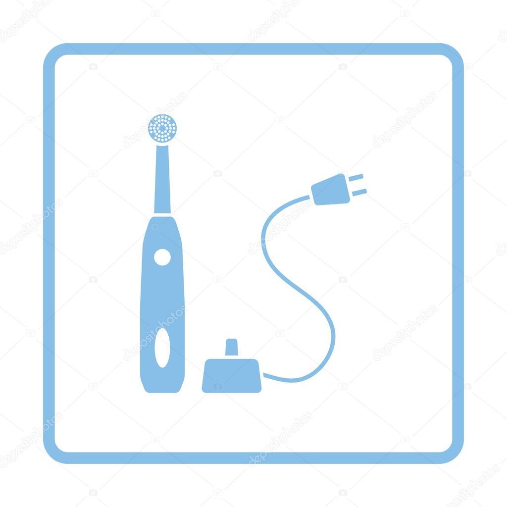 Icono de cepillo de dientes eléctrico — Archivo Imágenes Vectoriales ... 5f26e40b8369