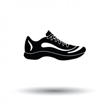Sneaker icon with shadow design.