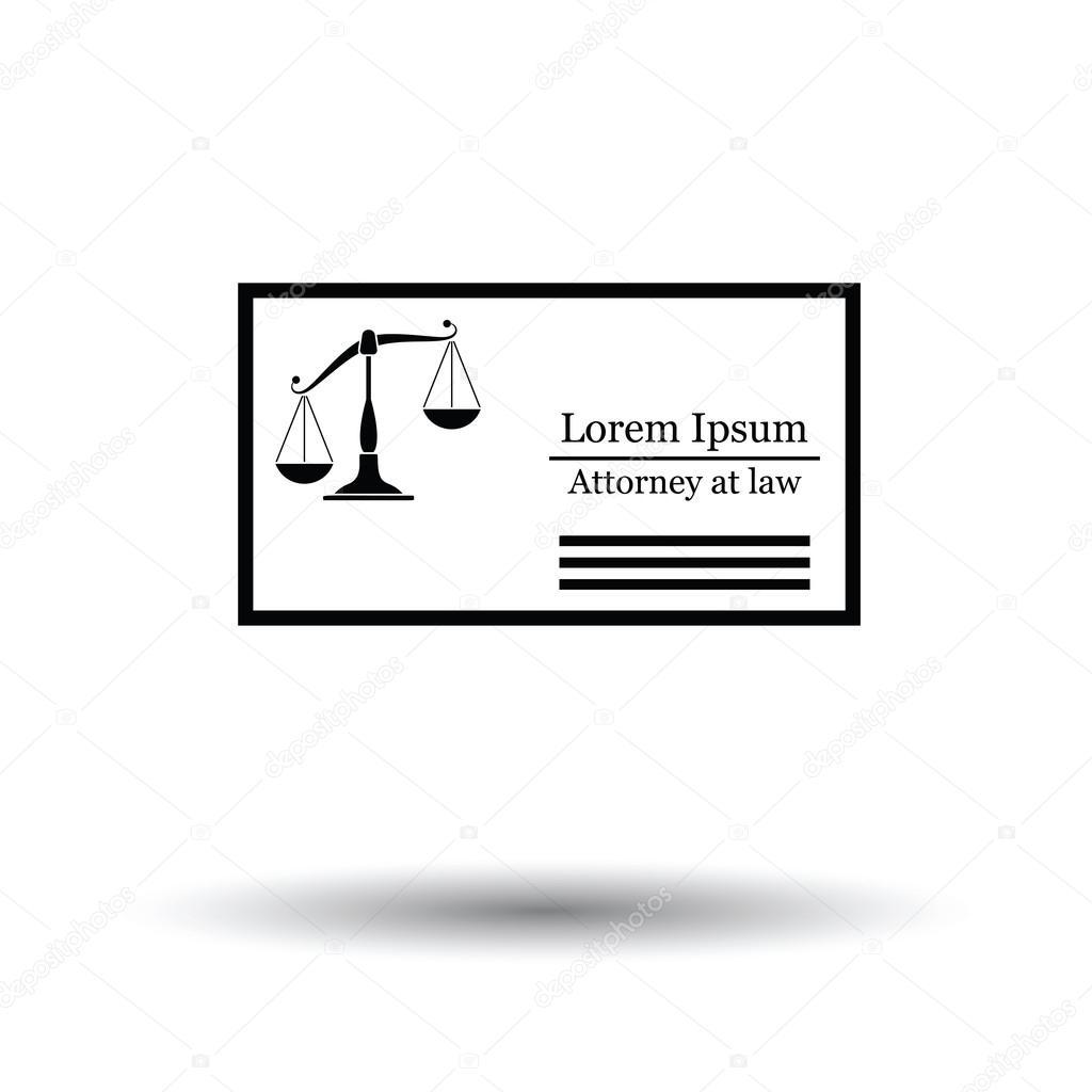 Rechtsanwalt Visitenkarten Symbol Stockvektor Angelp