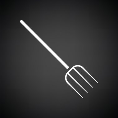 white pitchfork icon