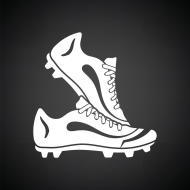 Pair soccer of boots  icon