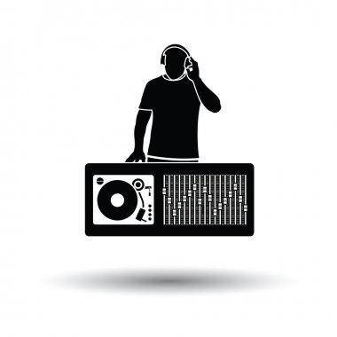 DJ icon with shadow design.