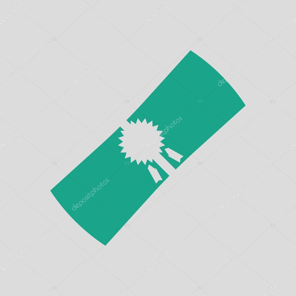 green diploma icon stock vector © angelp  diploma icon gray background green vector illustration vector by angelp