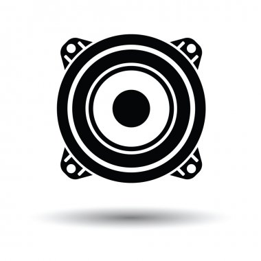 Loudspeaker  icon with shadow design