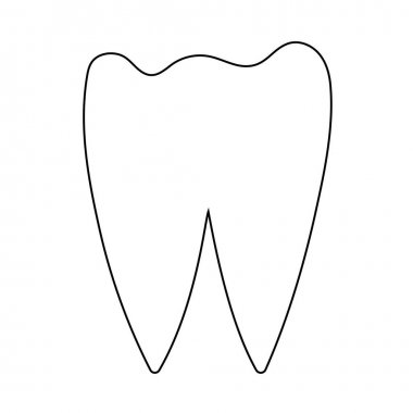 Tooth Icon. Editable Outline With Color Fill Design. Vector Illustration. icon