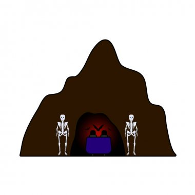 Scare Cave Icon. Editable Outline With Color Fill Design. Vector Illustration. icon