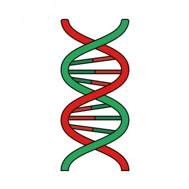DNA Icon. Editable Outline With Color Fill Design. Vector Illustration. icon