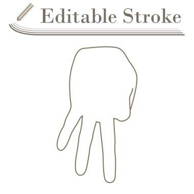 Baseball Catcher Gesture Icon. Editable Stroke Simple Design. Vector Illustration. icon
